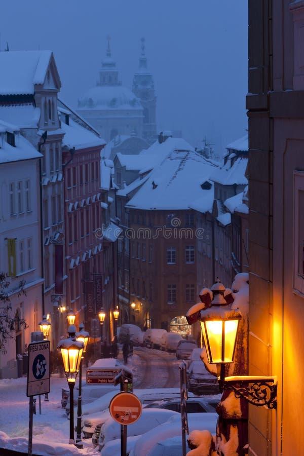 Prague en hiver, R?publique Tch?que photos libres de droits