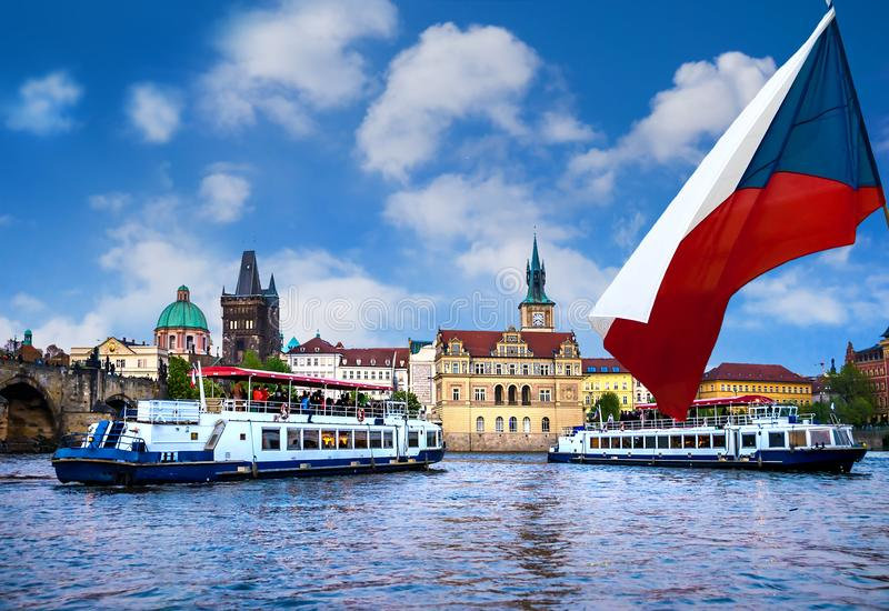 Prague est le capital de la République Tchèque photos libres de droits