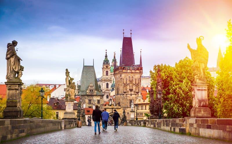 Prague est le capital de la République Tchèque photographie stock