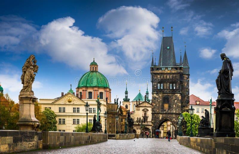 Prague est le capital de la République Tchèque photographie stock libre de droits