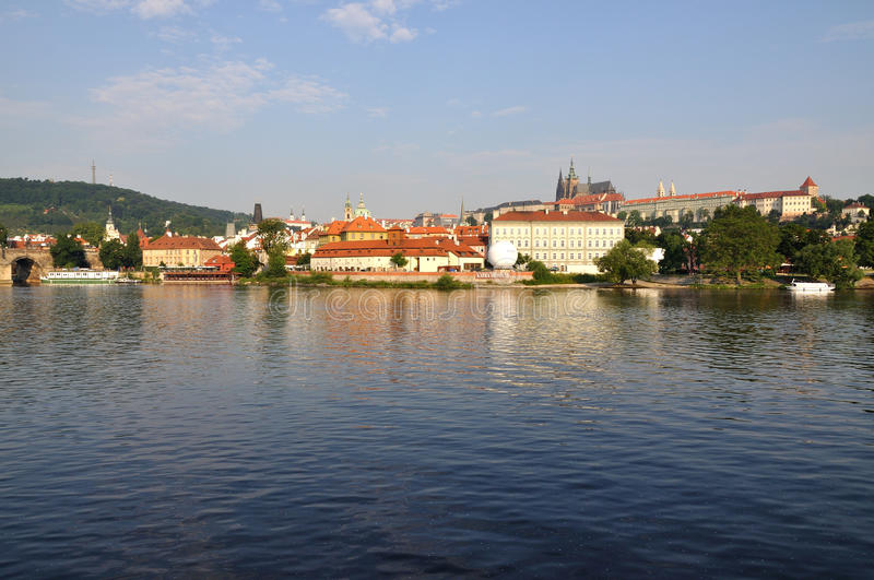 Download The Prague in the evening. stock image. Image of boat - 15322731