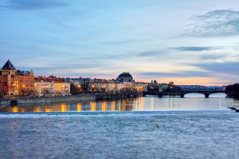 Prague in the evening