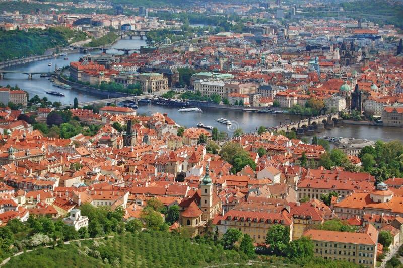 Prague för republiktown för cesky tjeckisk krumlov medeltida gammal sikt Gammal stad, cityscape arkivbilder