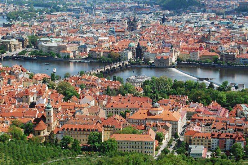 Prague för republiktown för cesky tjeckisk krumlov medeltida gammal sikt Gammal stad, cityscape royaltyfria foton