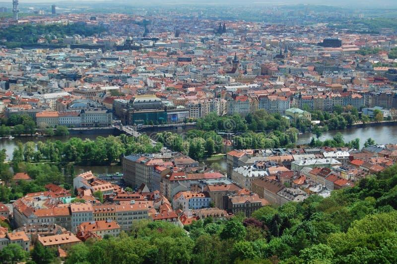 Prague för republiktown för cesky tjeckisk krumlov medeltida gammal sikt Gammal stad, cityscape fotografering för bildbyråer