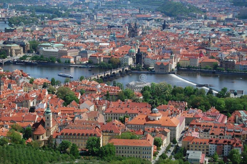 Prague för republiktown för cesky tjeckisk krumlov medeltida gammal sikt Gammal stad, cityscape royaltyfria bilder
