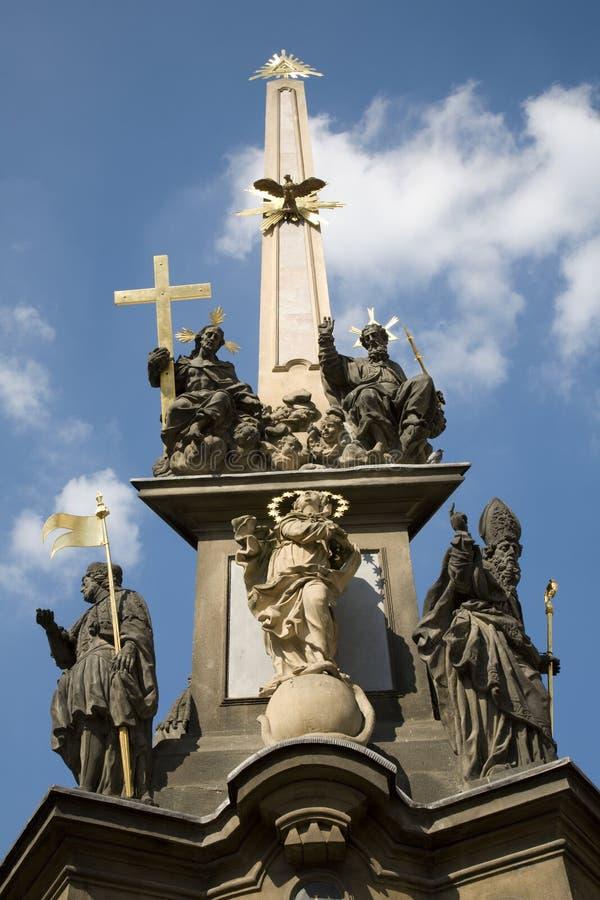Prague - fléau baroque de trinité sainte photo libre de droits