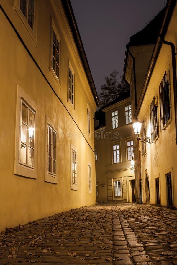 Prague gata arkivbild