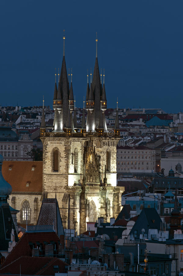 Prague - gothic cathedral stock photo