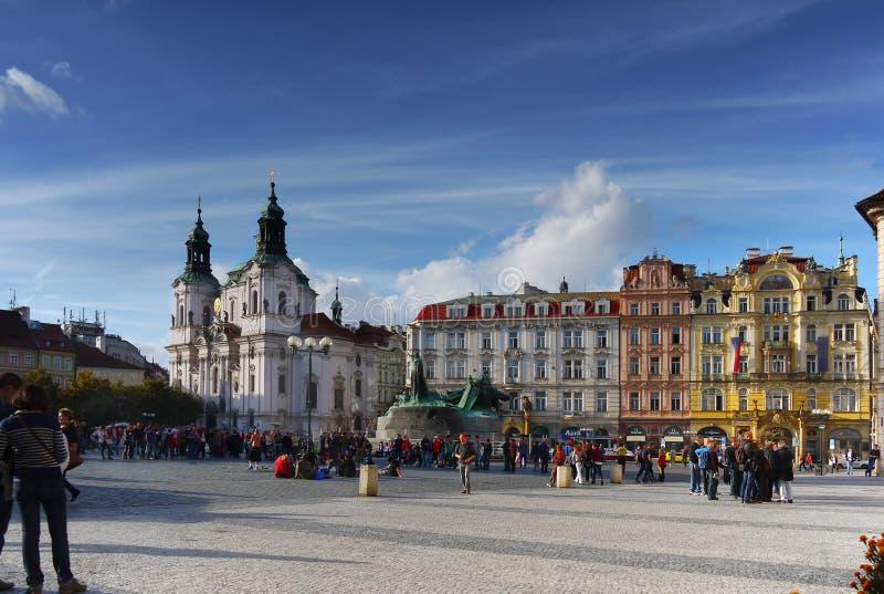 Prague gränsmärke royaltyfria bilder