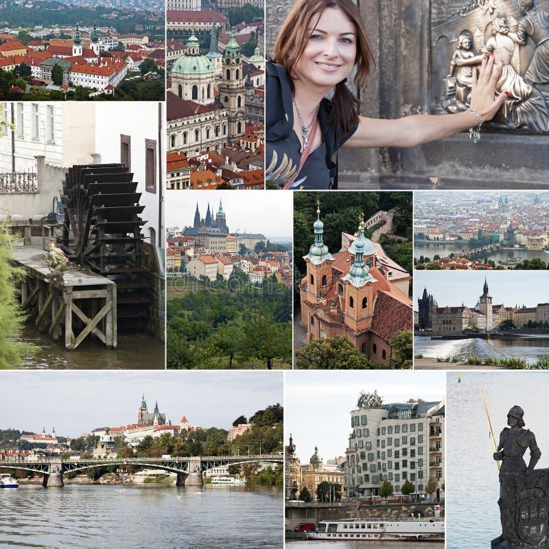 Prague gränsmärken royaltyfria bilder