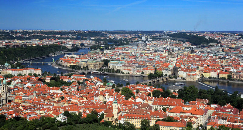 Download Prague historic centre stock image. Image of river, centre - 25867893