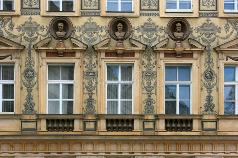 Prague house royalty free stock photo