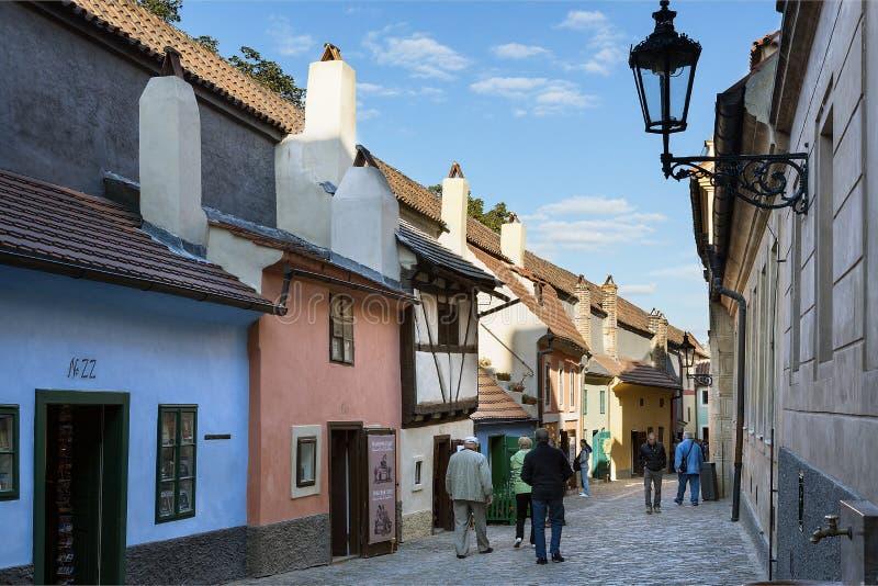 Prague, Hradcany, Golden Lane stock images