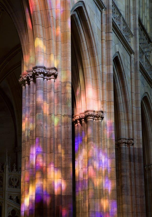 Prague - intérieur de cathédrale de rue Vitus photo stock