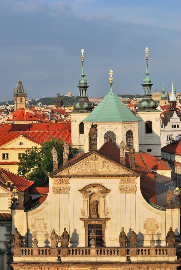 Prague. Klementinum and St.Salvatore Cathedral stock image