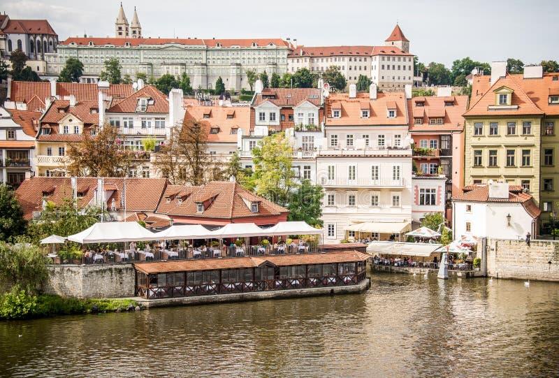 Prague, Labe river stock image