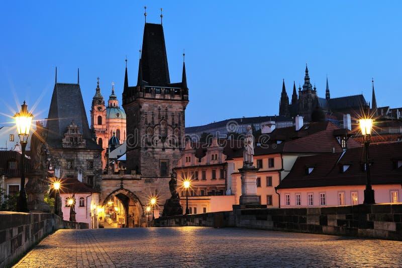 Prague Lesser Quoter Gate royaltyfri fotografi