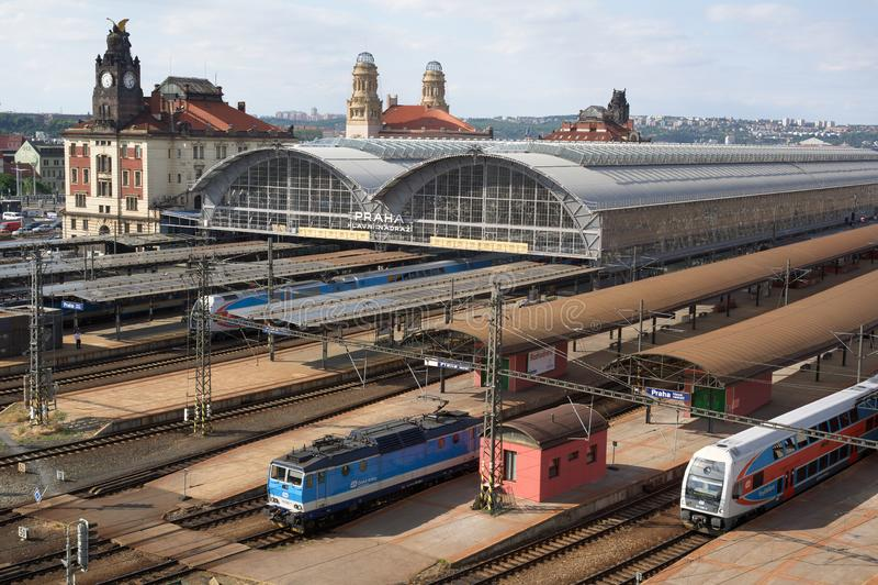 Prague main railway train station, Czech republic / Czechia stock photos