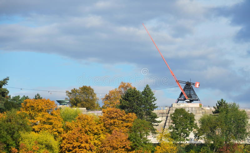 Download The Prague Metronome editorial stock image. Image of fall - 34571364