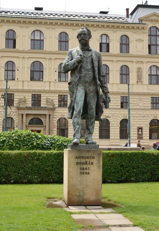 prague Monument au compositeur Antonin Dvorak photo libre de droits