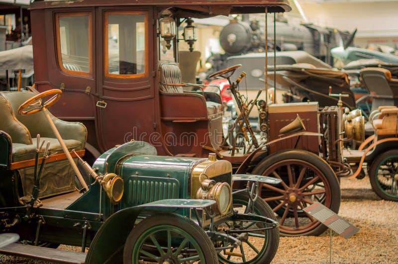 Prague, musée technique de République Tchèque, rétro voiture 2017-09-12 images libres de droits