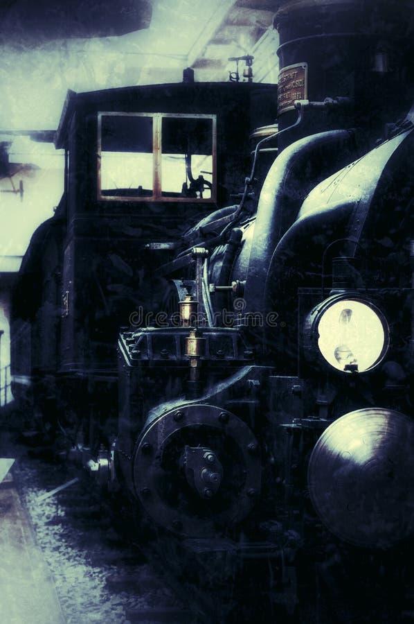2017-09-17 prague mus?e technique Vue de face de vieux rétro train de vapeur photos stock