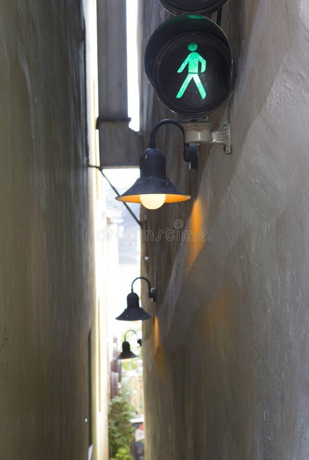 Prague. The narrowest street stock photos