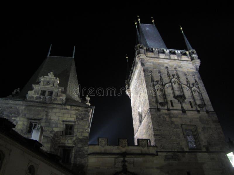 Prague by night stock photo