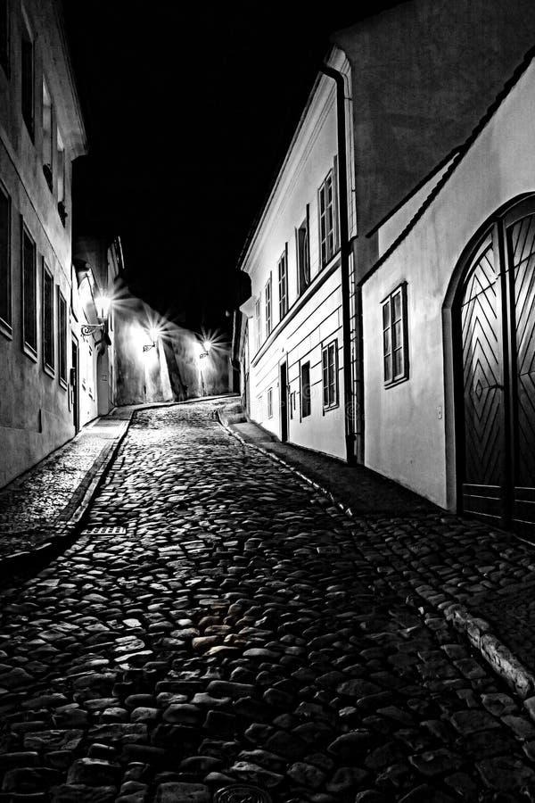 Prague at night royalty free stock image