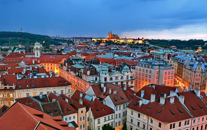 Prague Night stock images