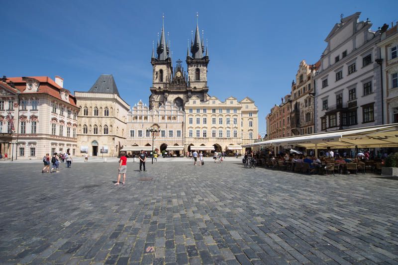 Prague old citycenter royalty free stock photography