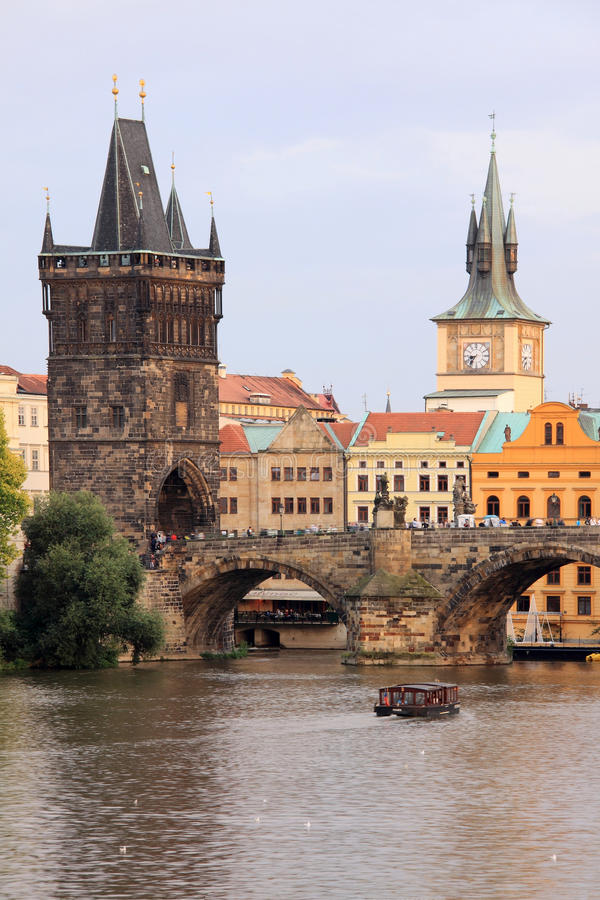 Download Prague Old Town With The Bridge Tower Stock Photo - Image of central, nicholas: 15378598