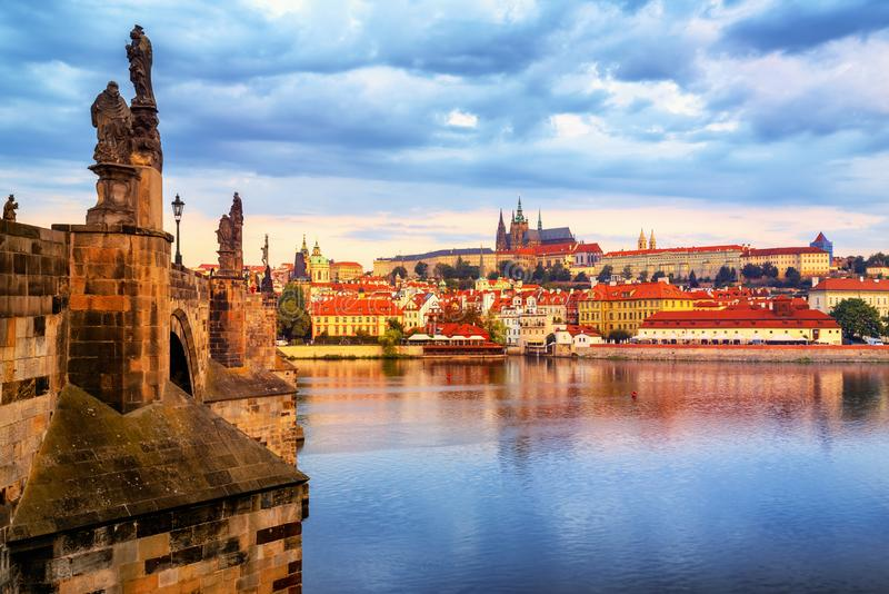 Prague Old Town, Czech Republic, on sunrise royalty free stock photography
