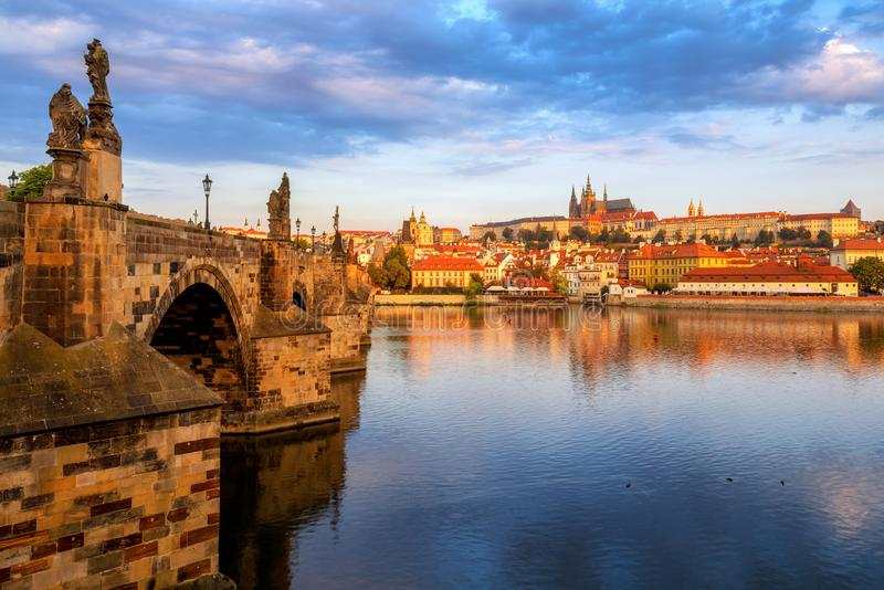 Prague Old Town, Czech Republic, on sunrise stock images