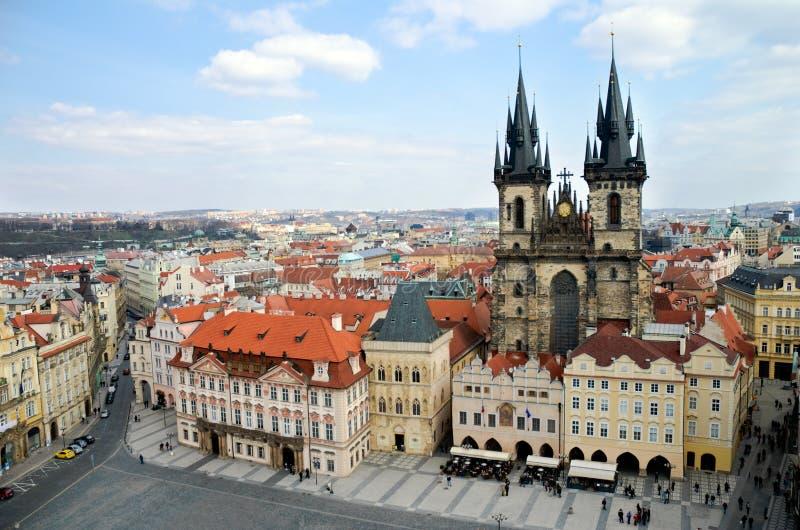 Prague, Old Town Square stock image