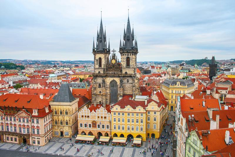 Prague Old Town Square Czech Republic stock images