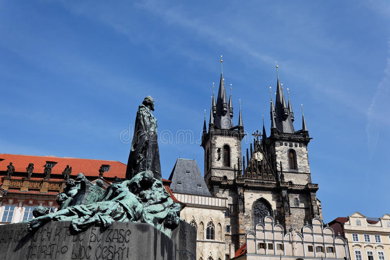 Download Prague, Old Town Square, Tyn Church Stock Image - Image: 14813487