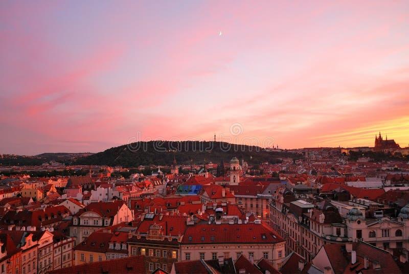 Prague. Old Town at sunset stock photography