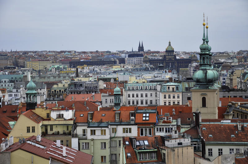 Prague - one of the most beautiful cities in Europe, where every building is a work of architectural art. royalty free stock photography