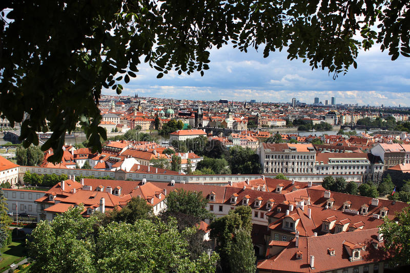 Prague Overview royalty free stock photography
