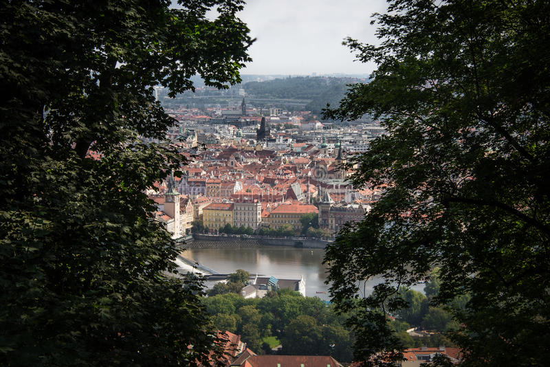 Prague from Petrin royalty free stock photography