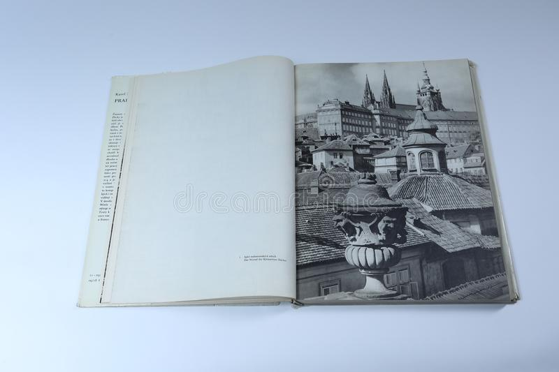 Prague in pictures book by Karel Plicka. Roofs in Prague royalty free stock photos