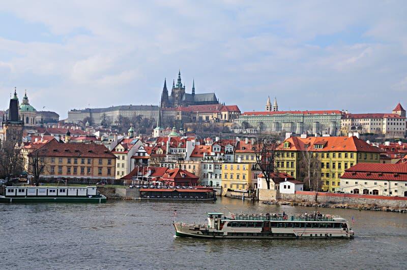 Prague and Prague Castle stock image