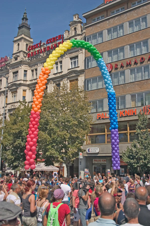 Download Prague Pride Pararde 2012 editorial stock photo. Image of czech - 26224388