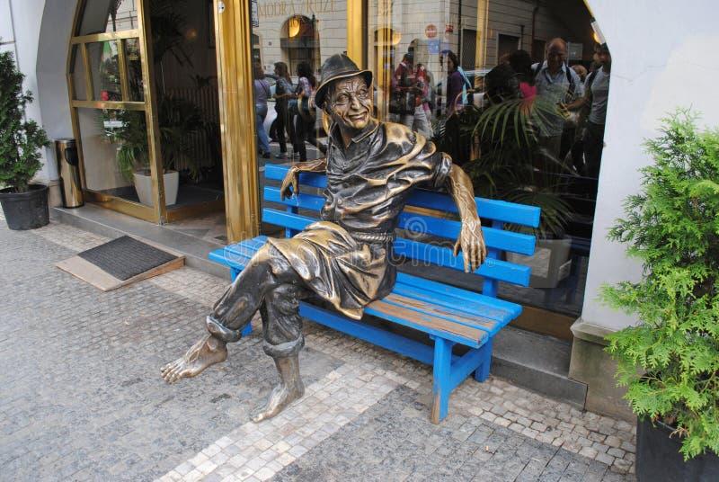 PRAGUE, RÉPUBLIQUE TCHÈQUE - 28 AOÛT 2011 : Composition sculpturale photos stock