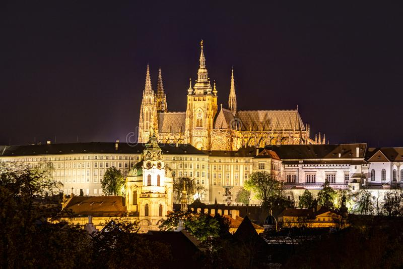 Prague, République Tchèque, le 22 avril 2019 - vue de la soirée Prague Cr?puscule ? Prague image libre de droits