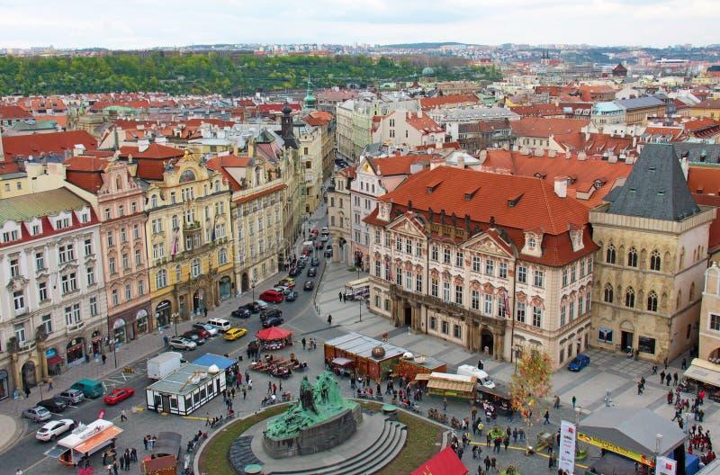 Prague, République Tchèque, le 15 avril 2011 : vue supérieure du central image libre de droits