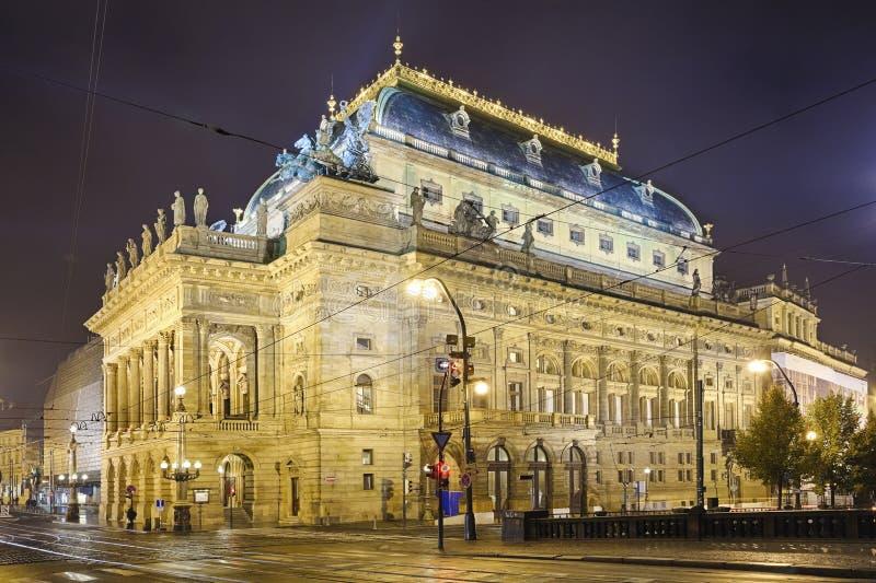 Prague, République Tchèque, le théâtre national photos libres de droits