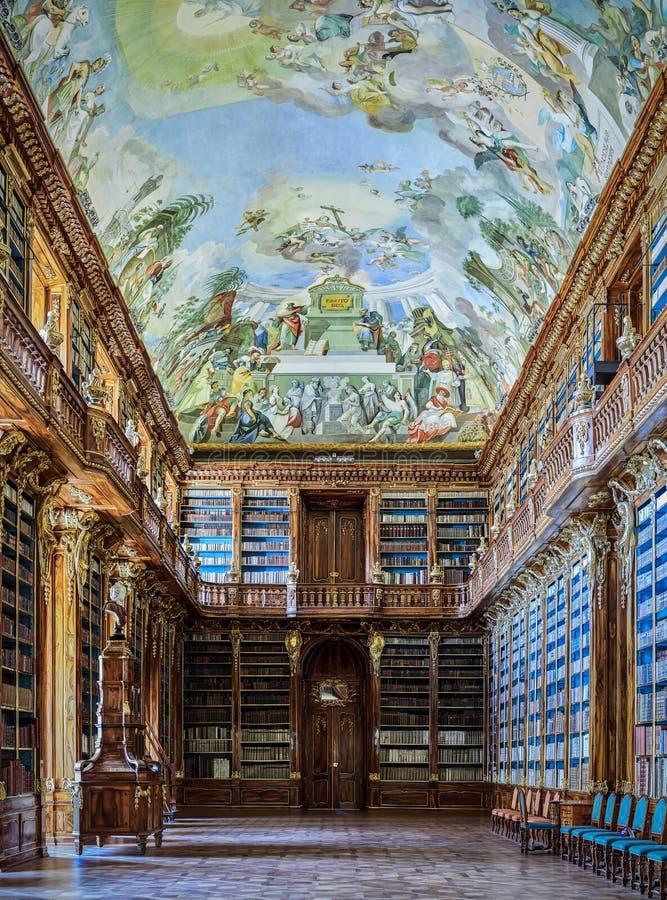 PRAGUE, RÉPUBLIQUE TCHÈQUE - 6 SEPTEMBRE 2017 Bibliothèque de couvent de Strahov, Prague, République Tchèque image libre de droits